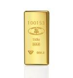 χρυσό χρυσό πλίνθωμα τραπεζικών ράβδων Στοκ Εικόνα