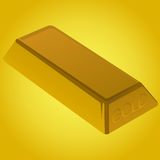 χρυσό χρυσό πλίνθωμα τραπεζικών ράβδων Απεικόνιση αποθεμάτων