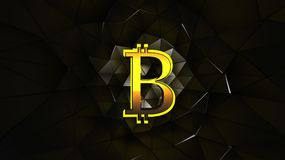 Χρυσό χρώμα Bitcoin Στοκ φωτογραφία με δικαίωμα ελεύθερης χρήσης