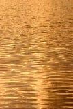 χρυσό ύδωρ ηλιοβασιλέματ&o Στοκ Εικόνες