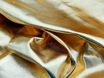 Χρυσό ύφασμα σατέν Στοκ Φωτογραφία
