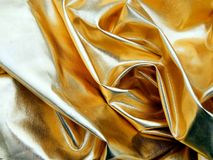 Χρυσό ύφασμα σατέν Στοκ Φωτογραφίες