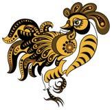 χρυσό ύφος κοκκόρων Στοκ εικόνα με δικαίωμα ελεύθερης χρήσης