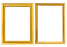 Χρυσό ύφος πλαισίων Στοκ Εικόνα