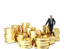 Χρυσό Bitcoin Στοκ εικόνα με δικαίωμα ελεύθερης χρήσης