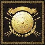 Χρυσό buckler ελεύθερη απεικόνιση δικαιώματος