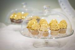 Χρυσό Cupcake Στοκ εικόνες με δικαίωμα ελεύθερης χρήσης