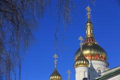 Χρυσό Cupolla ιερό Dormition Pochayiv Lavra Στοκ εικόνα με δικαίωμα ελεύθερης χρήσης
