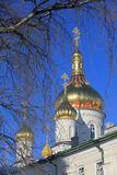 Χρυσό Cupolla ιερό Dormition Pochayiv Lavra Στοκ Φωτογραφία
