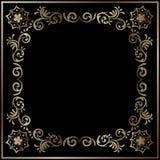 Χρυσό floral πλαισιωμένο ύφος υπόβαθρο ελεύθερη απεικόνιση δικαιώματος