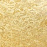 Χρυσό floral υφαντικό σχέδιο μπροκάρ διακοσμήσεων Στοκ φωτογραφίες με δικαίωμα ελεύθερης χρήσης