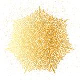Χρυσό Floral mandala φύλλων αλουμινίου ελεύθερη απεικόνιση δικαιώματος