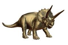 Χρυσό horridus Triceratops της πρόσφατης κρητιδικής περιόδου μεταξύ της τρισδιάστατης απεικόνισης 66 και 68 εκατομμυρίων πριν από Στοκ Εικόνες