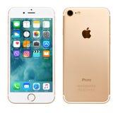 Χρυσό iPhone 7 της Apple Στοκ Εικόνες