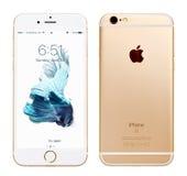 Χρυσό iPhone της Apple 6S Στοκ Εικόνες