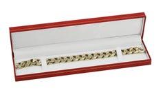 χρυσό jewelery αλυσίδων Στοκ Φωτογραφία