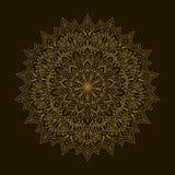Χρυσό Mandala Κυκλική διακόσμηση προτύπων Στοκ φωτογραφία με δικαίωμα ελεύθερης χρήσης