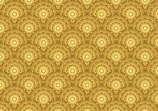 Χρυσό Marigold σχέδιο λουλουδιών στο κλασικό ύφος Στοκ φωτογραφία με δικαίωμα ελεύθερης χρήσης