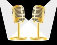 Χρυσό mic Στοκ εικόνα με δικαίωμα ελεύθερης χρήσης