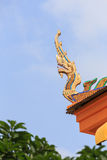 Χρυσό naga Ταϊλάνδη Στοκ Εικόνα