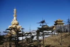 Χρυσό Puxian Βούδας στην ΑΜ Emei Στοκ φωτογραφία με δικαίωμα ελεύθερης χρήσης