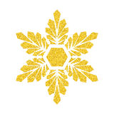 Χρυσό snowflake στο λευκό Στοκ Φωτογραφία