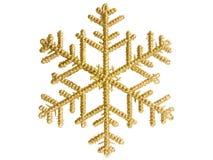 χρυσό snowflake Στοκ φωτογραφία με δικαίωμα ελεύθερης χρήσης
