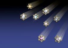 χρυσό snowflake W κοσμημάτων συνόρω&nu απεικόνιση αποθεμάτων