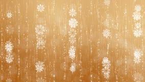 Χρυσό Snowflakes υπόβαθρο ελεύθερη απεικόνιση δικαιώματος