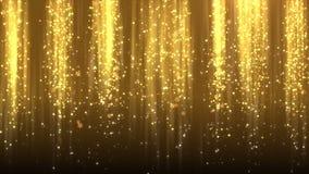 Χρυσό Snowflakes Χριστουγέννων μειωμένο υπόβαθρο, βρόχος ελεύθερη απεικόνιση δικαιώματος