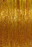 Χρυσό tinsel Χριστουγέννων υπόβαθρο Στοκ φωτογραφία με δικαίωμα ελεύθερης χρήσης