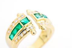 χρυσό tourmaline δαχτυλιδιών Στοκ Εικόνες