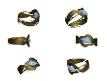 χρυσό tourmaline δαχτυλιδιών Στοκ Εικόνα