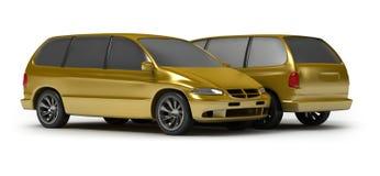 χρυσό ywo vagon αυτοκινήτων Στοκ Φωτογραφία