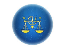 χρυσό zodiac σημαδιών libra Στοκ εικόνα με δικαίωμα ελεύθερης χρήσης