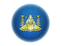 χρυσό zodiac virgo σημαδιών Στοκ Φωτογραφία