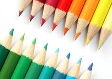 χρωμάτισε τα μολύβια Στοκ Εικόνες