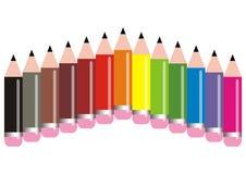 χρωμάτισε τα μολύβια ελεύθερη απεικόνιση δικαιώματος