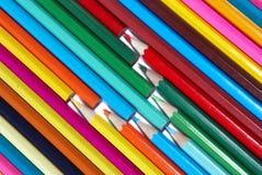 χρωμάτισε τα μολύβια Στοκ Φωτογραφία