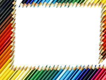 χρωμάτισε τα μολύβια Στοκ φωτογραφίες με δικαίωμα ελεύθερης χρήσης