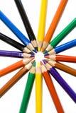 χρωμάτισε τα μολύβια Στοκ Φωτογραφίες