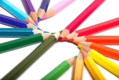 χρωμάτισε τα μολύβια στοκ φωτογραφία με δικαίωμα ελεύθερης χρήσης