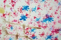 Χρωμάτων αφηρημένο υπόβαθρο κρητιδογραφιών watercolor λαμπιρίζοντας Στοκ φωτογραφία με δικαίωμα ελεύθερης χρήσης