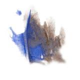 Χρωμάτων παφλασμών μπλε κόκκινο watercolor μελανιού χρώματος το μπλε γκρίζο απομόνωσε τη βούρτσα κτυπήματος splatter watercolour  Στοκ εικόνα με δικαίωμα ελεύθερης χρήσης