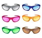 χρωματίζει πολλά γυαλιά &eta ελεύθερη απεικόνιση δικαιώματος