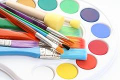 χρωματίζει watercolour Στοκ εικόνες με δικαίωμα ελεύθερης χρήσης