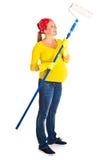 χρωματίζοντας έγκυος γ&upsilo Στοκ εικόνες με δικαίωμα ελεύθερης χρήσης