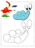 χρωματίζοντας αέρας Στοκ εικόνες με δικαίωμα ελεύθερης χρήσης