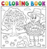 Χρωματίζοντας αγρότης βιβλίων με τη συγκομιδή 3 απεικόνιση αποθεμάτων