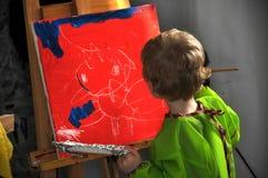 Χρωματίζοντας αγόρι Στοκ εικόνα με δικαίωμα ελεύθερης χρήσης